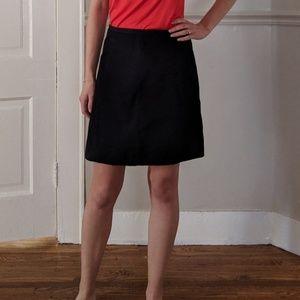 Gap A-Line True Black Linen Blend Skirt